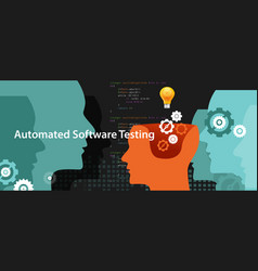 automated software testing script to fiind bug by vector image vector image