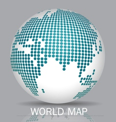 Dotted Globes vector image