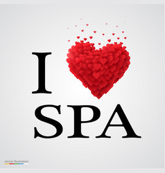 i love spa heart sign vector image vector image