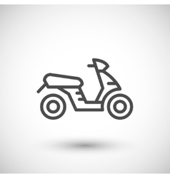 Modern scooter line icon vector image
