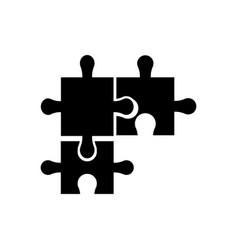 puzzle pieces object shape work silhouette vector image vector image