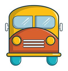 schoolbus icon cartoon style vector image