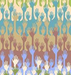 Seamless hands background vector image