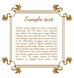 text template with floral frame vector image vector image