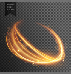 transparent light effect in wavy form vector image