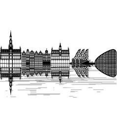 brussels skyline vector image