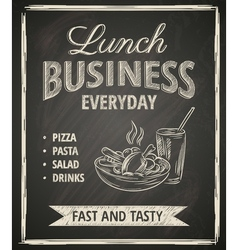 Business lunch poster vector image vector image