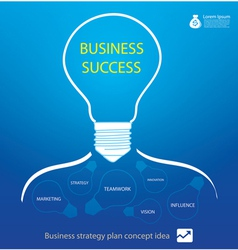 business strategy in light bulb vector image vector image