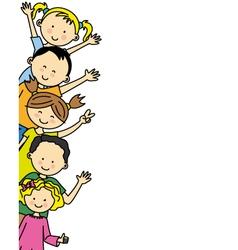 group of happy children vector image vector image