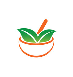 leaf medicine eco healthcare logo vector image vector image