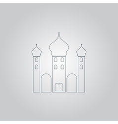 Mosque icon on yellow background vector image vector image