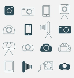 Photo Camera Simple Icons Set vector image vector image