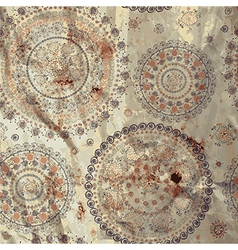 Round motive east vintage background vector image