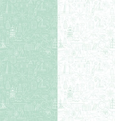 Seamless pattern with marine objects vector image
