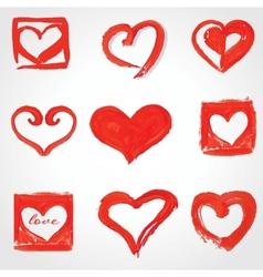 Set of Beautiful greeting vintage Valentines card vector image