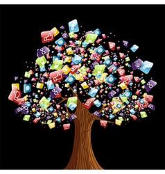 Smart phone application tree vector image vector image