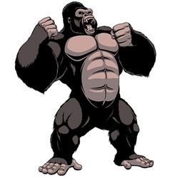 The fierce gorilla shouts vector image vector image