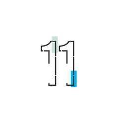 11 year anniversary celebration template design vector