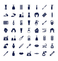 49 cosmetic icons vector