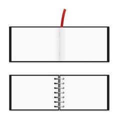 a5 horizontal notepad mockup isolated vector image