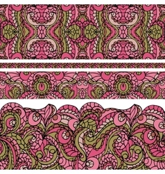 abstract ethnic pattern seamless bordercute vector image