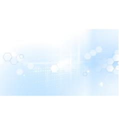 abstract hexagons technology hi-tech futuristic vector image