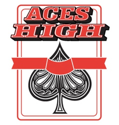 Aces high vector image