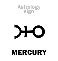 Astrology planet mercury vector