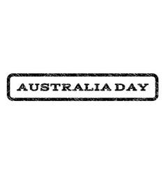 Australia day watermark stamp vector