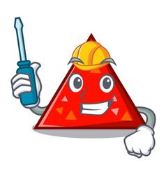 Automotive triangel mascot cartoon style vector