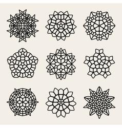 Black And White Mandala Lace Ornaments vector