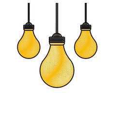 bulbs hanging isolated vector image