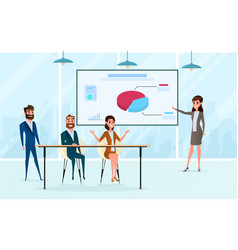 business team brainstorm in meeting room vector image