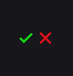 Check mark positive and negative voting approved vector