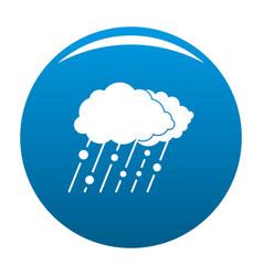 cloud rain snow icon blue vector image