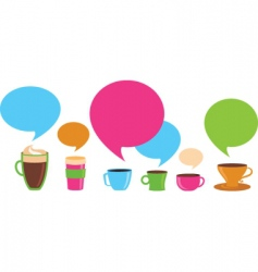 Coffee dialog vector