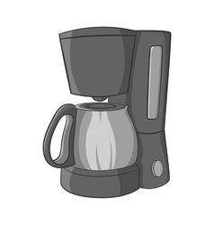 Coffee maker icon black monochrome style vector