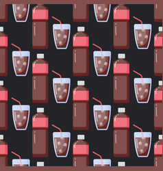 Cola flat seamless pattern vector