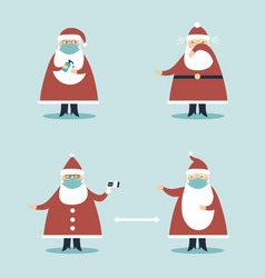 Covid-19 virus protection tips for christmas vector