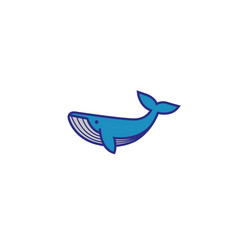 creative blue whale logo vector image
