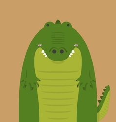 Cute big fat crocodile vector