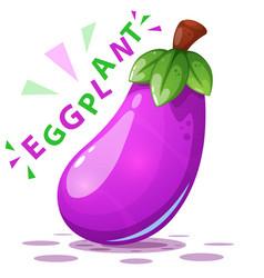 cute eggplant - cartoon characters vector image