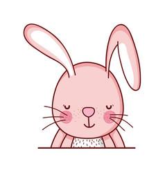 cute rabbit animal cartoon isolated icon design vector image