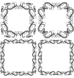 Decorative frames and borders vector