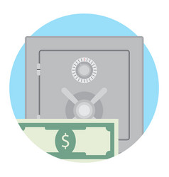 deposit box with money vector image
