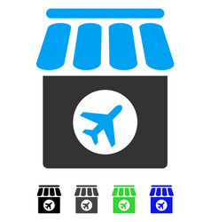 Duty free flat icon vector