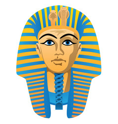 Egyptian golden pharaoh burial mask vector