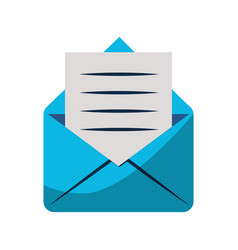 email with letter symbol isolated vector image