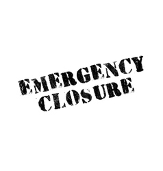 Emergency Closure rubber stamp vector image