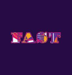 Fast concept word art vector